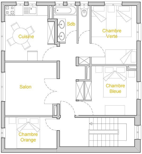 plan appartement interieur